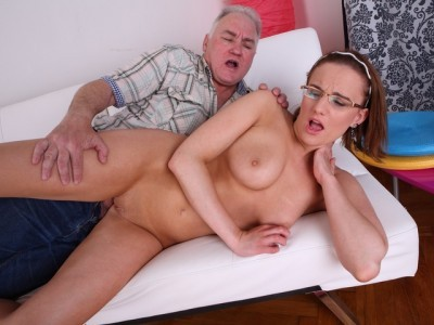 Amy gives herself to this old guy; you might ask why, but you'll never get an answer.