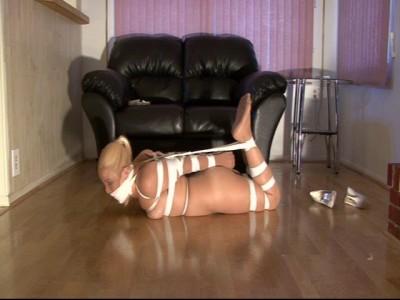 Her first pantyhose encasement