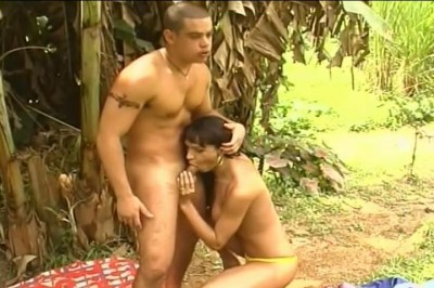 Hot Brazilian Tranny Fucking in Forest cover