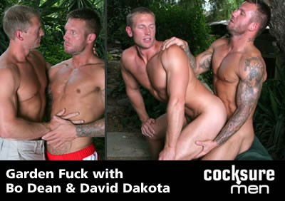 Bo Dean and David Dakota on Cocksure Men cover