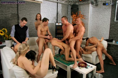 Gays and lesbian orgy