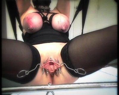 SlaveM  / clip4sale - Suspended slaves, and thrust her pussy hook cover